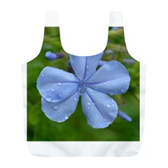 Blue Water Droplets Full Print Recycle Bags (l)