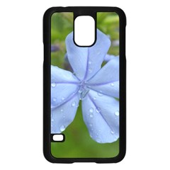 Blue Water Droplets Samsung Galaxy S5 Case (black)