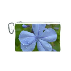 Blue Water Droplets Canvas Cosmetic Bag (s)