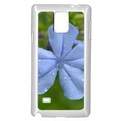Blue Water Droplets Samsung Galaxy Note 4 Case (White)