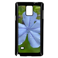 Blue Water Droplets Samsung Galaxy Note 4 Case (Black)