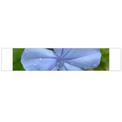Blue Water Droplets Flano Scarf (Large)