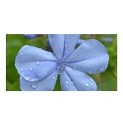 Blue Water Droplets Satin Shawl