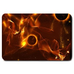 Fire And Flames In The Universe Large Doormat