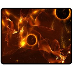 Fire And Flames In The Universe Fleece Blanket (Medium)