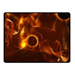 Fire And Flames In The Universe Fleece Blanket (Small)