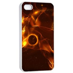 Fire And Flames In The Universe Apple iPhone 4/4s Seamless Case (White)