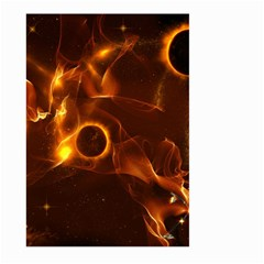 Fire And Flames In The Universe Large Garden Flag (two Sides)