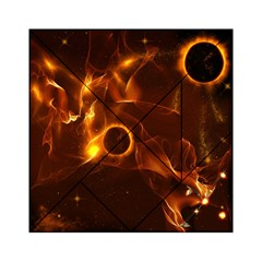 Fire And Flames In The Universe Acrylic Tangram Puzzle (6  x 6 )