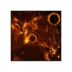 Fire And Flames In The Universe Acrylic Tangram Puzzle (4  X 4 )