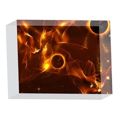 Fire And Flames In The Universe 5 x 7  Acrylic Photo Blocks