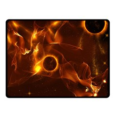 Fire And Flames In The Universe Double Sided Fleece Blanket (Small)