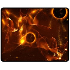 Fire And Flames In The Universe Double Sided Fleece Blanket (medium)