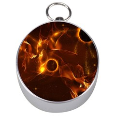 Fire And Flames In The Universe Silver Compasses