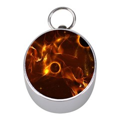 Fire And Flames In The Universe Mini Silver Compasses