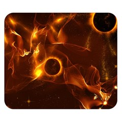 Fire And Flames In The Universe Double Sided Flano Blanket (small)