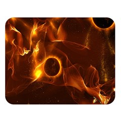 Fire And Flames In The Universe Double Sided Flano Blanket (Large)
