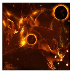 Fire And Flames In The Universe Large Satin Scarf (square)