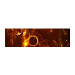 Fire And Flames In The Universe Satin Scarf (Oblong)