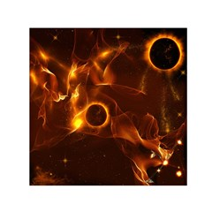 Fire And Flames In The Universe Small Satin Scarf (Square)