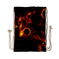 Fire And Flames In The Universe Drawstring Bag (Small)