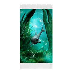 Wonderful Dolphin Shower Curtain 36  x 72  (Stall)