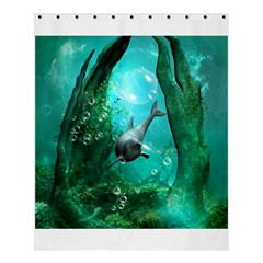 Wonderful Dolphin Shower Curtain 60  x 72  (Medium)