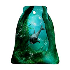 Wonderful Dolphin Bell Ornament (2 Sides)