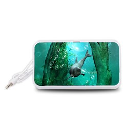 Wonderful Dolphin Portable Speaker (White)