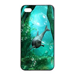 Wonderful Dolphin Apple Iphone 4/4s Seamless Case (black)