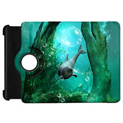 Wonderful Dolphin Kindle Fire Hd Flip 360 Case