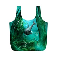Wonderful Dolphin Full Print Recycle Bags (m)