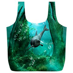 Wonderful Dolphin Full Print Recycle Bags (l)