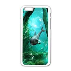 Wonderful Dolphin Apple Iphone 6 White Enamel Case