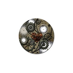 Steampunk With Heart Golf Ball Marker (10 Pack)