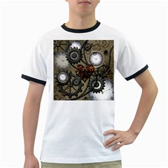 Steampunk With Heart Ringer T Shirts