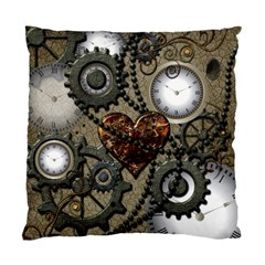 Steampunk With Heart Standard Cushion Case (one Side)