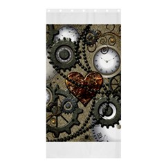 Steampunk With Heart Shower Curtain 36  x 72  (Stall)