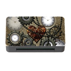 Steampunk With Heart Memory Card Reader with CF