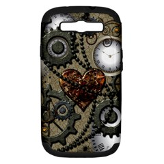 Steampunk With Heart Samsung Galaxy S Iii Hardshell Case (pc+silicone)