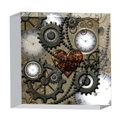 Steampunk With Heart 5  x 5  Acrylic Photo Blocks