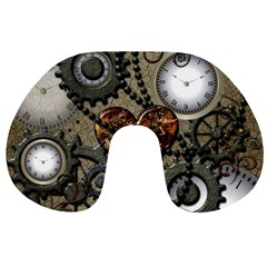 Steampunk With Heart Travel Neck Pillows
