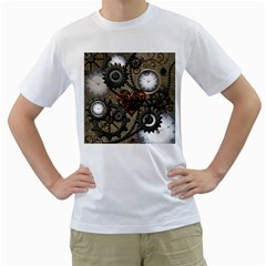 Steampunk With Heart Men s T Shirt (white)