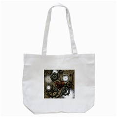 Steampunk With Heart Tote Bag (white)