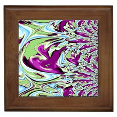 Purple, Green, and Blue Abstract Framed Tiles