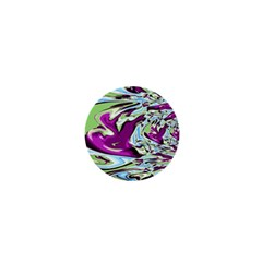 Purple, Green, And Blue Abstract 1  Mini Buttons