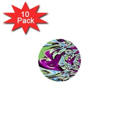 Purple, Green, and Blue Abstract 1  Mini Buttons (10 pack)