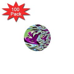 Purple, Green, and Blue Abstract 1  Mini Buttons (100 pack)