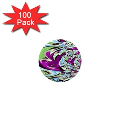 Purple, Green, and Blue Abstract 1  Mini Magnets (100 pack)