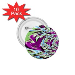 Purple, Green, And Blue Abstract 1 75  Buttons (10 Pack)